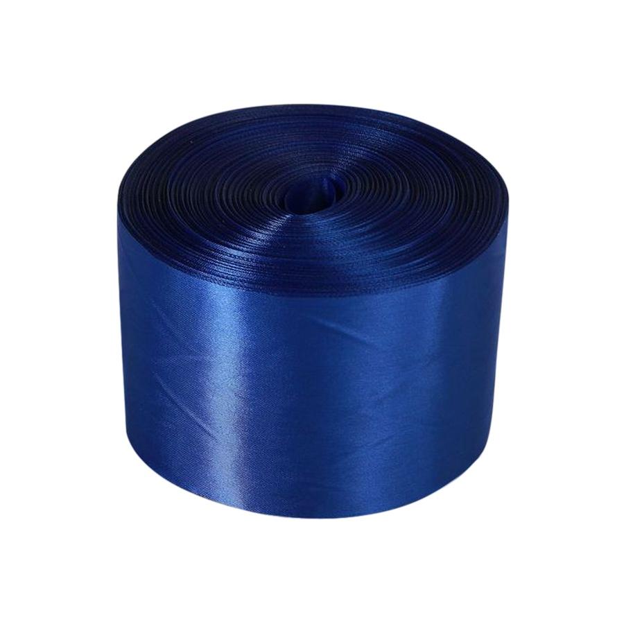 Лента Свадьба атласная, синяя, ширина 10см, длина 98м лента свадьба атласная ярко голубая ширина 10см длина 98м
