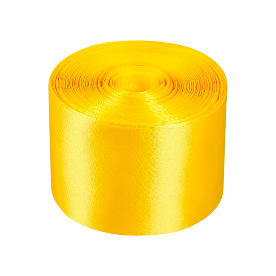 Лента Свадьба атласная, жёлтая, ширина 10см, длина 98м лента свадьба атласная сиреневая ширина 10см длина 98м