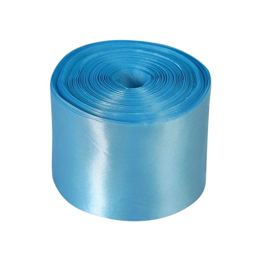 Лента Свадьба атласная, голубая, ширина 10см, длина 98м лента свадьба атласная ярко голубая ширина 10см длина 98м