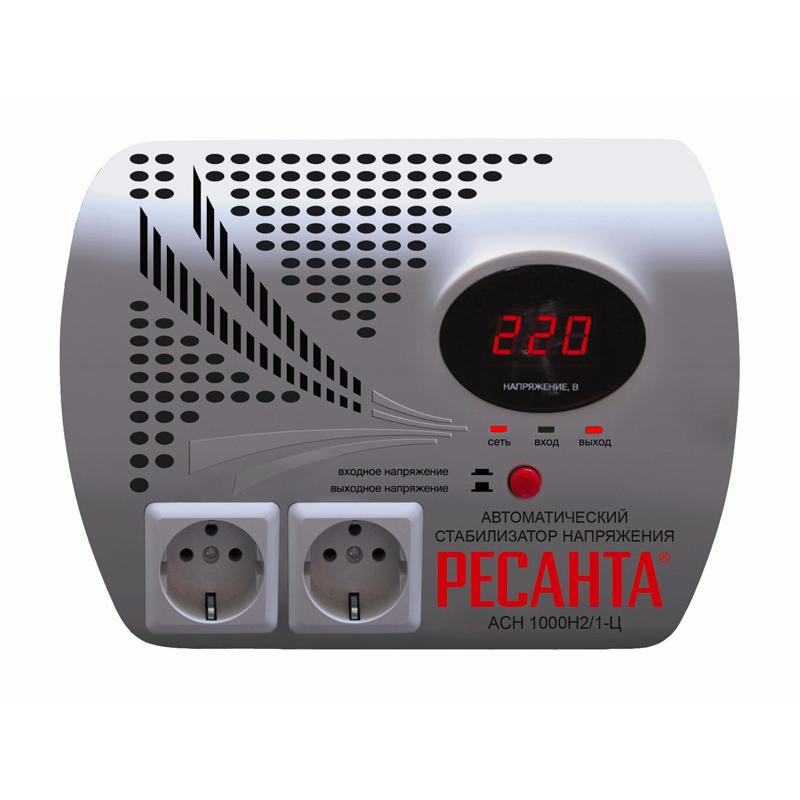 """Стабилизатор напряжения РЕСАНТА 46060590156424606059015642Стабилизатор напряжения РЕСАНТА АСН-1000 Н2/1-Ц. Ключевые характеристики: Brand: РЕСАНТА Выходное напряжение, В: 200...240 Мощность, Вт: 1000 КПД, %: 97 Задержка включения, с: 0...0,1 Класс защиты: IP20 Высоковольтная защита, В: 255...265 Защита от короткого замыкания: Да Защита от перегрева: Да Охлаждение: Воздушное Температурный режим, °С: 0...45 Вес изделия, кг: 3,7 Напряжение сети, В: 140...260 Частота тока, Гц: 50 Вес нетто, кг: 2,98 Вес брутто, кг: 2,98 Габариты упаковки, см: 10,5 x 21 x 26 Гарантия, г: 1 EAN13: 4606059015642 Модель: РЕСАНТА АСН-1000 Н2/1-Ц .ОПИСАНИЕ. Стабилизатор напряжения АСН-1000Н2/1-Ц """"Ресанта"""" предназначен для обеспечения качественного электропитания и долгой работы различных бытовых устройств в условиях нестабильного напряжения в сети. Данный стабилизатор может обеспечивать стабильным питанием - телевизор, ресивер, DVD проигрыватель, кассовый аппарат, газовый котел..Принцип работы. Регулировка напряжения происходит за счет переключения обмоток на трансформаторе при помощи реле. Поэтому данный вид стабилизаторов называется """"релейный"""". Осуществляется ступенчатая регулировка. При ступенчатой регулировке точность выходного напряжения возрастает до 8%, т.е. 17,6В, что вполне допустимо для всех бытовых приборов. Но за счет этого сокращается время регулировки, оно минимально и составляет 20-35 мсек, т.е. менее 1 секунды! Такой стабилизатор стоит устанавливать в места где входное напряжение постоянно изменяется.Стабилизатор напряжения Ре..."""