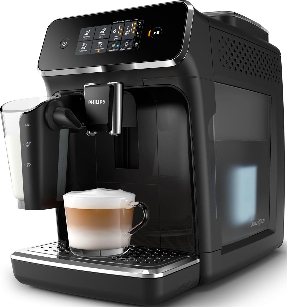Автоматическая кофемашина Philips Series 2200 EP2231/40 с капучинатором LatteGo, черный