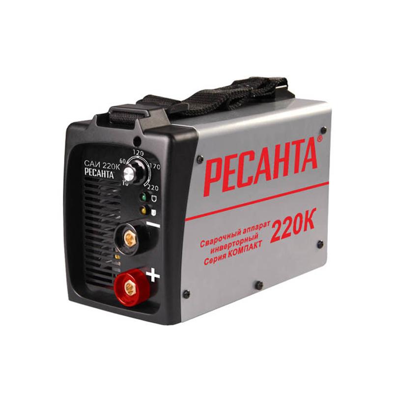Сварочный аппарат РЕСАНТА 46060590188894606059018889Аппарат сварочный инверторный РЕСАНТА САИ 220К. Ключевые характеристики: Brand: РЕСАНТА Диапазон тока, А: 10...220 Диаметр электрода, мм: 5 Номинальная продолжительность включения, %: 70% при сварочном токе 220 А Мощность, Вт: 8000 Напряжение холостого хода, В: 80 Вес изделия, кг: 4,5 Напряжение сети, В: 200...240 Частота тока, Гц: 50 Длина шнура питания, м: 2 Вес брутто, кг: 3,92 Габариты упаковки, см: 30 x 18 x 16 Гарантия, г: 1 EAN13: 4606059018889 Модель: РЕСАНТА САИ 220К .ОПИСАНИЕ. Особенности и преимуществаСварочный аппарат инверторный САИ-220К (компакт) работает от бытовой электросети и не требует особого способа подключения.Инверторная система использует сравнительно небольшой трансформатор в комплекте с IGBT-транзисторами и обеспечивает малые размеры и легкий вес аппарата, что позволяет легко переносить его в нужное оператору место. Для этого имеется специальный удобный наплечный ремень.Устройство снабжено элементами предупреждения об опасном перегреве, что делает его работу безопасной и надежной.Агрегат обладает функциями «антизалипание» (ANTI STICK) и «горячий старт» (HOT START), а продолжительность его включения составляет 70%.Качественно изготовленный прочный корпус оберегает составные компоненты сварочного аппарата от повреждений и одновременно обеспечивает надежное охлаждение рабочего трансформатора.Сварка производится переменным током высокой частоты, что обеспечивает довольно высокое качество сварного шва.Возможно использование электродов переменного или пос...
