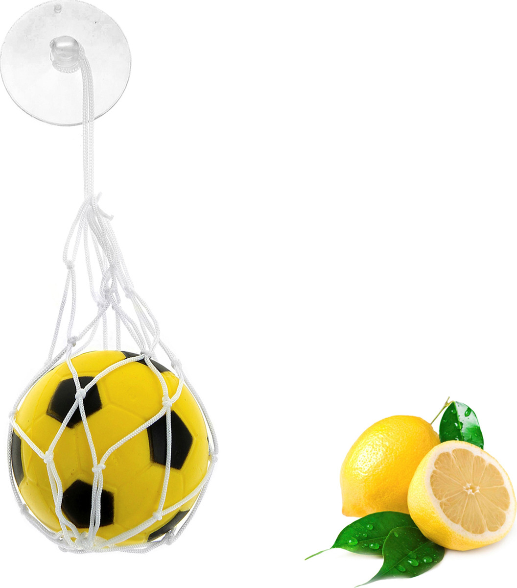 Ароматизатор автомобильный Luazon Футбольный мяч, лимон, под сиденье, 805472, желтый гирлянда luazon метраж футбольный мяч 5m ed 20 220v white 2433914