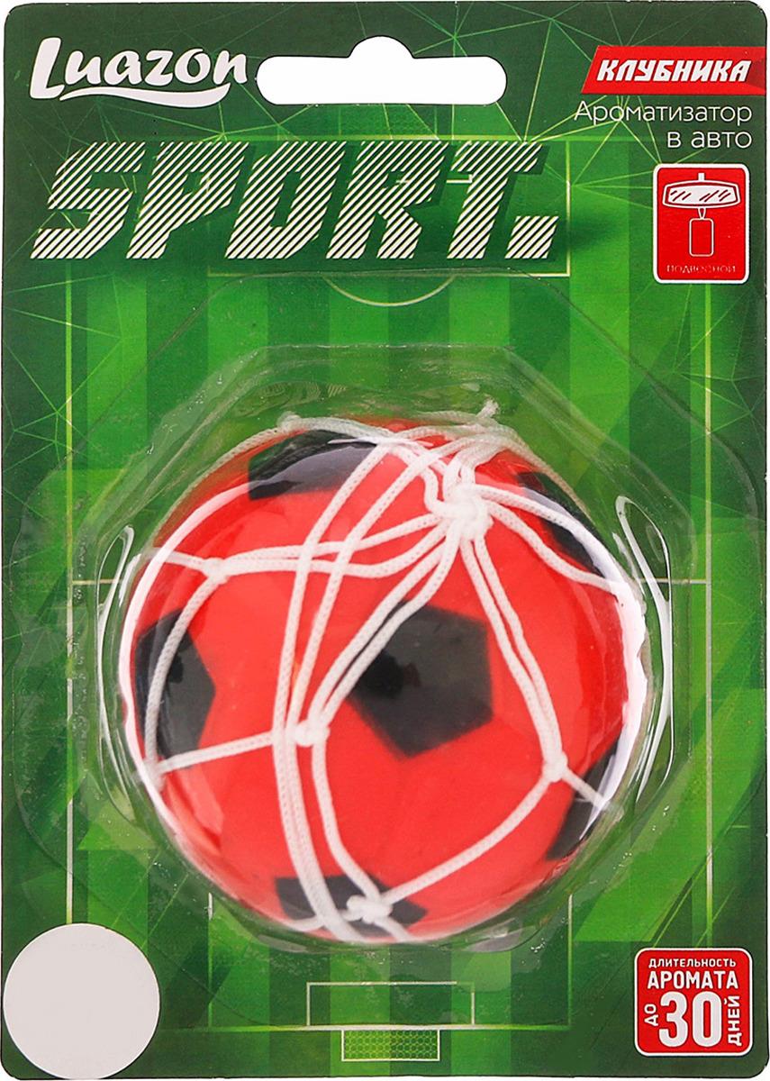 Ароматизатор автомобильный Luazon Футбольный мяч, клубника, под сиденье, 805473, красный гирлянда luazon метраж футбольный мяч 5m ed 20 220v white 2433914