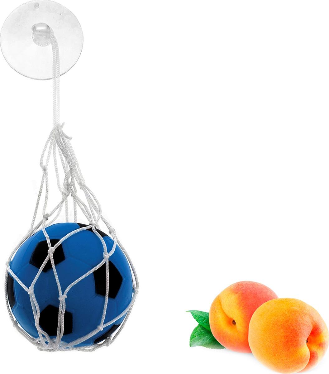 Ароматизатор автомобильный Luazon Футбольный мяч, персик, под сиденье, 805475, синий гирлянда luazon метраж футбольный мяч 5m ed 20 220v white 2433913