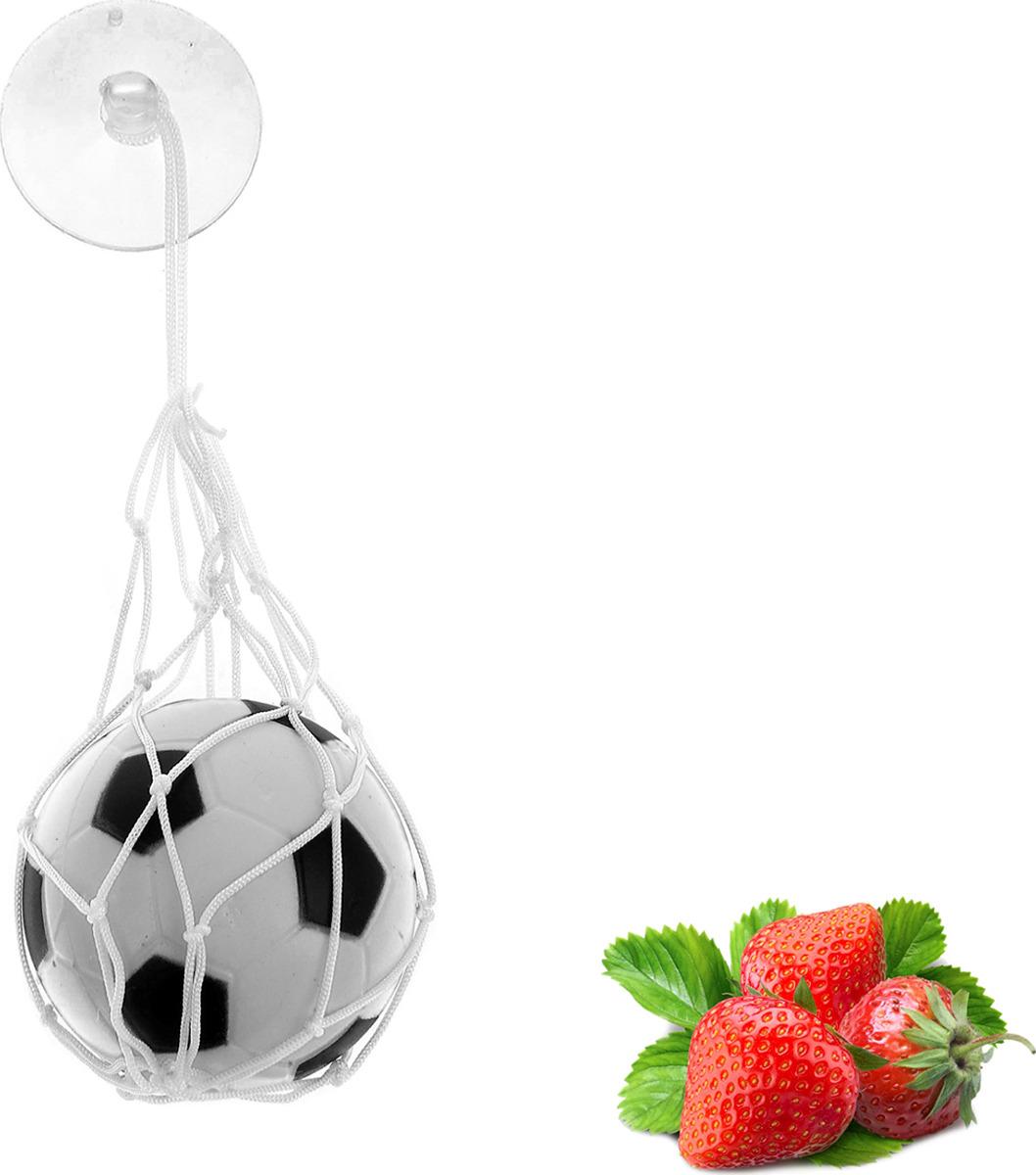 Ароматизатор автомобильный Luazon Футбольный мяч, клубника, под сиденье, 805476, белый гирлянда luazon метраж футбольный мяч 5m ed 20 220v white 2433914