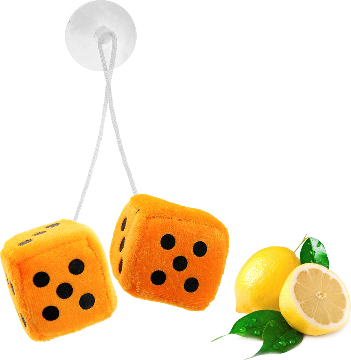 Ароматизатор автомобильный Luazon Кости, лимон, под сиденье, 805617, оранжевый805617Яркости в серые городские будни и скучную езду по пробкам добавит ароматизатор. Это забавная линейка освежителей, в которой сочетаются эксклюзивный дизайн и приятный аромат. Если у вас нет автомобиля — не беда! Повесьте ароматизатор дома или на работе и наслаждайтесь чудесным благоуханием.