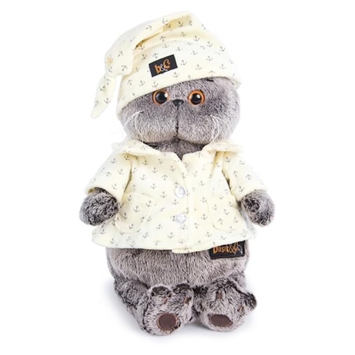 Мягкая игрушка Budi Basa Кот Басик в пижаме, 25 см budi basa мягкая игрушка budi basa кот басик в шелковой пижаме 19 см