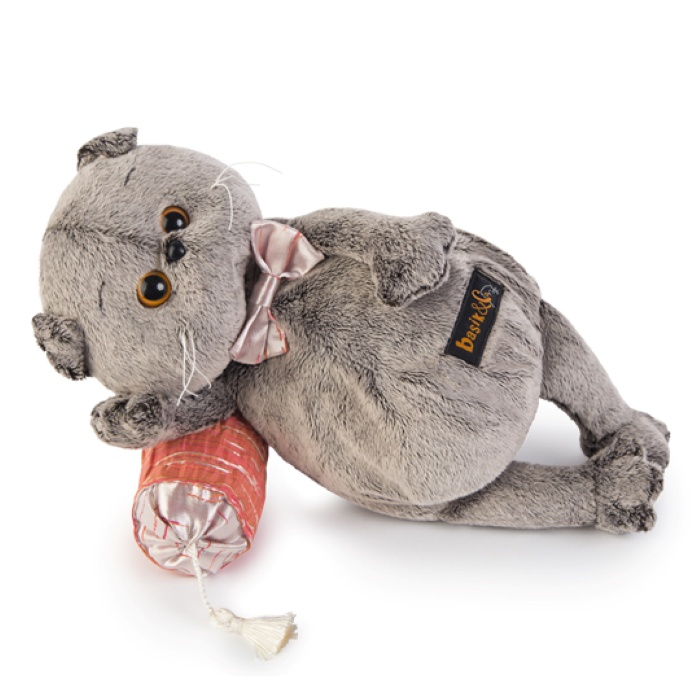 Мягкая игрушка Budi Basa Кот Басик на подушке думочке, 18 см