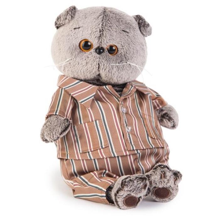 Мягкая игрушка Budi Basa Кот Басик в шелковой пижамке, 25 см budi basa мягкая игрушка budi basa кот басик в шелковой пижаме 19 см