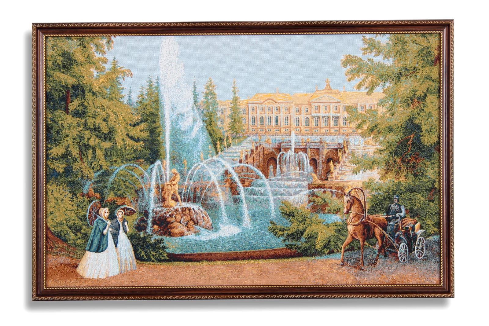 Картина Магазин гобеленов фонтаны Петербурга 55*80 см, Гобелен бассейны и фонтаны