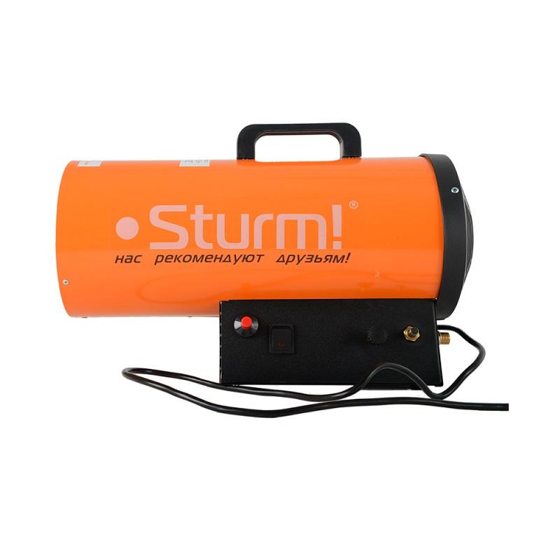 Тепловая пушка Sturm! 46030100579254603010057925Пушка тепловая газовая Sturm! GH91151V. Ключевые характеристики: Brand: Sturm! Тип: Пушка тепловая газовая Максимальная тепловая мощность, кВт: 17 Тип топлива, тип: Пропан/бутан Допустимое давление газа, бар: 1,5 Вес изделия, кг: 5,4 Напряжение сети, В: 220 Частота тока, Гц: 50 Вес нетто, кг: 5,4 Вес брутто, кг: 4,828 Габариты упаковки, см: 38,5 x 23 x 33 Гарантия, г: 1 EAN13: 4603010057925 Модель: Sturm! GH91151V .ОПИСАНИЕ. Газовая тепловая пушка Sturm GH91151V обеспечивает эффективный обогрев больших помещений площадью до 170 кв.м. Предусмотрен встроенный термостат. Пушка имеет газовый редуктор и пьезоподжиг. Устройство работает на газе пропан/бутан.Максимальная мощность17000 Вт;Поток воздуха5.5 л/мин;Площадь обогрева170 кв.м;Количество режимов работы1;Расход топлива1,4 кг/час;Давление газа1,5 бар;Тип топливаПропан/бутан;Тип поджигаПьезоподжиг;Газовый редукторЕсть;ТермостатЕсть;Степень защитыIP10;Сетевая вилкаЕсть;Габариты в упаковке1.2 мм;Вес нетто5.4 кг;Вес брутто6 кг.