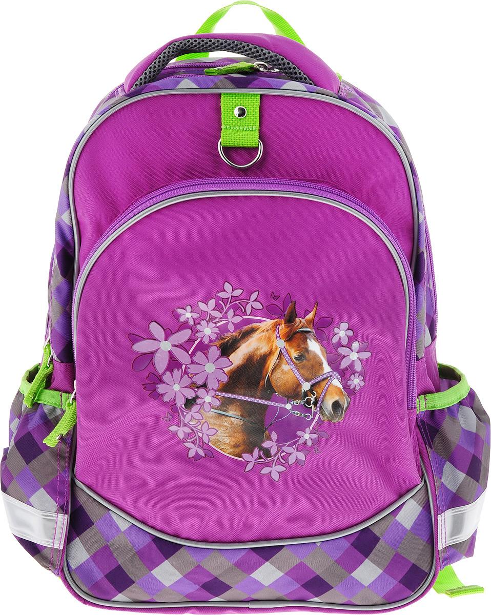 Рюкзак школьный ErichKrause Wild Horse erichkrause erichkrause школьный рюкзак софия прекрасная морское приключение