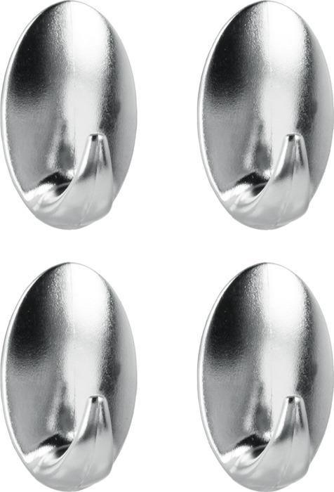 Крючок для ванной Metaltex, 29.46.12, серый, 4 шт metaltex 25 24 50