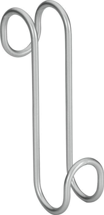 Крючок для ванной Metaltex Radius, 40.38.00, серый, 14 х 7 х 3,5 см metaltex 25 43 00