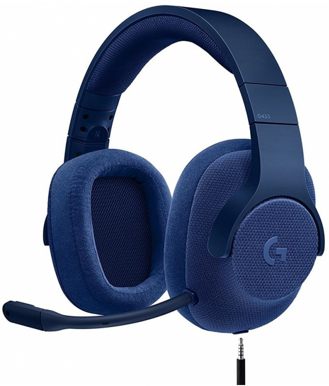 лучшая цена Наушники Logitech G433 TRIPLE, с микрофоном, синий
