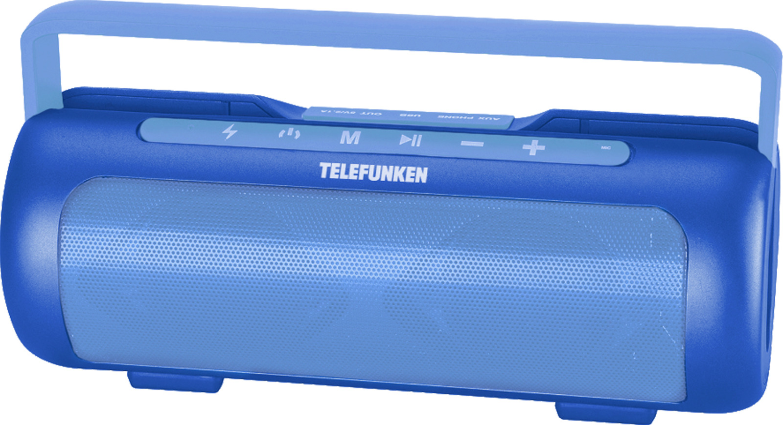 Фото - Колонка портативная Telefunken TF-PS1231B, 4 Вт, 2.0 BT/3.5Jack, 2200 mAh, синий беспроводная bluetooth колонка edifier m33bt