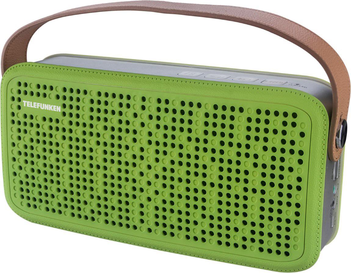 Колонка портативная Telefunken TF-PS1230B, 8 Вт, 2.0 BT/3.5Jack/USB, 4000mAh, зеленый, коричневый все цены