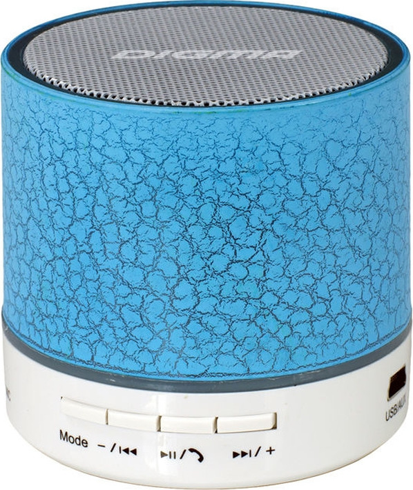 Фото - Колонка портативная Digma S-12, SP123BL, 3 Вт, 1.0 BT/USB, синий портативная колонка prime line xs sound tube синий
