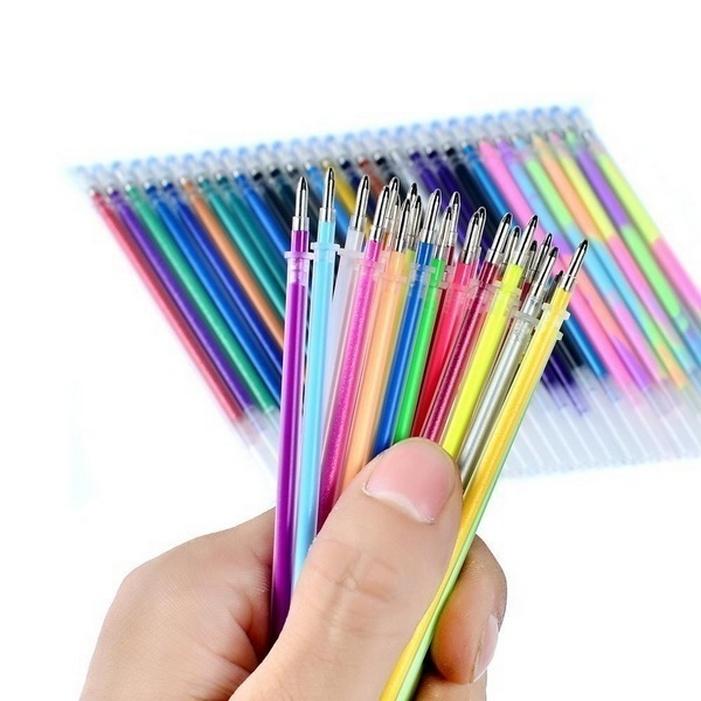 цена Стержень для ручки No Name Набор гелевых стержней для рисования, разноцветный онлайн в 2017 году