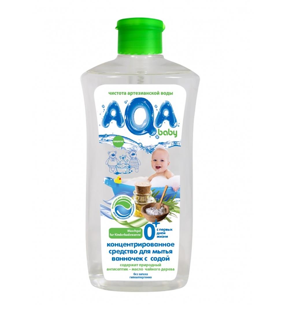 Универсальное чистящее средство AQA baby Концентрированное средство для мытья ванночек с содой baby swimmer средство для мытья ванночек 500 мл