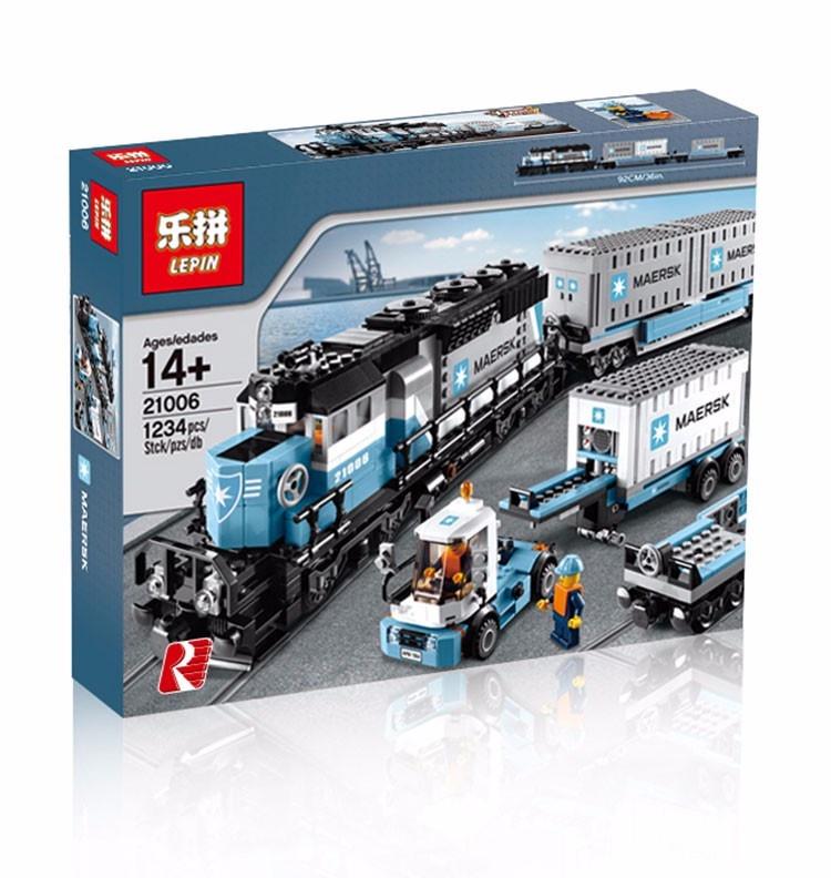 Пластиковый <b>конструктор LEPIN 21006 Грузовой</b> Поезд Маерск ...
