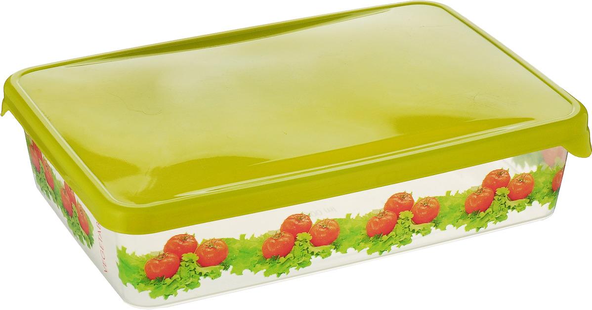 Емкость для продуктов Giaretti Браво. Помидоры, цвет: салатовый, 900 мл емкость для продуктов giaretti браво цвет белый прозрачный 900 мл gr1068