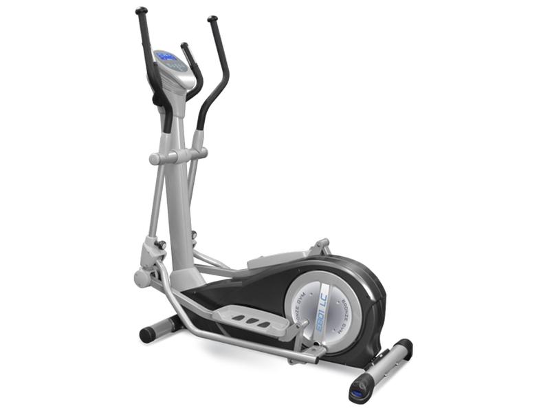 Эллиптический тренажер Bronze Gym E801 LC, серый, черный