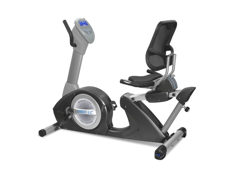 Велотренажер Bronze Gym R801 LC, серый, черный
