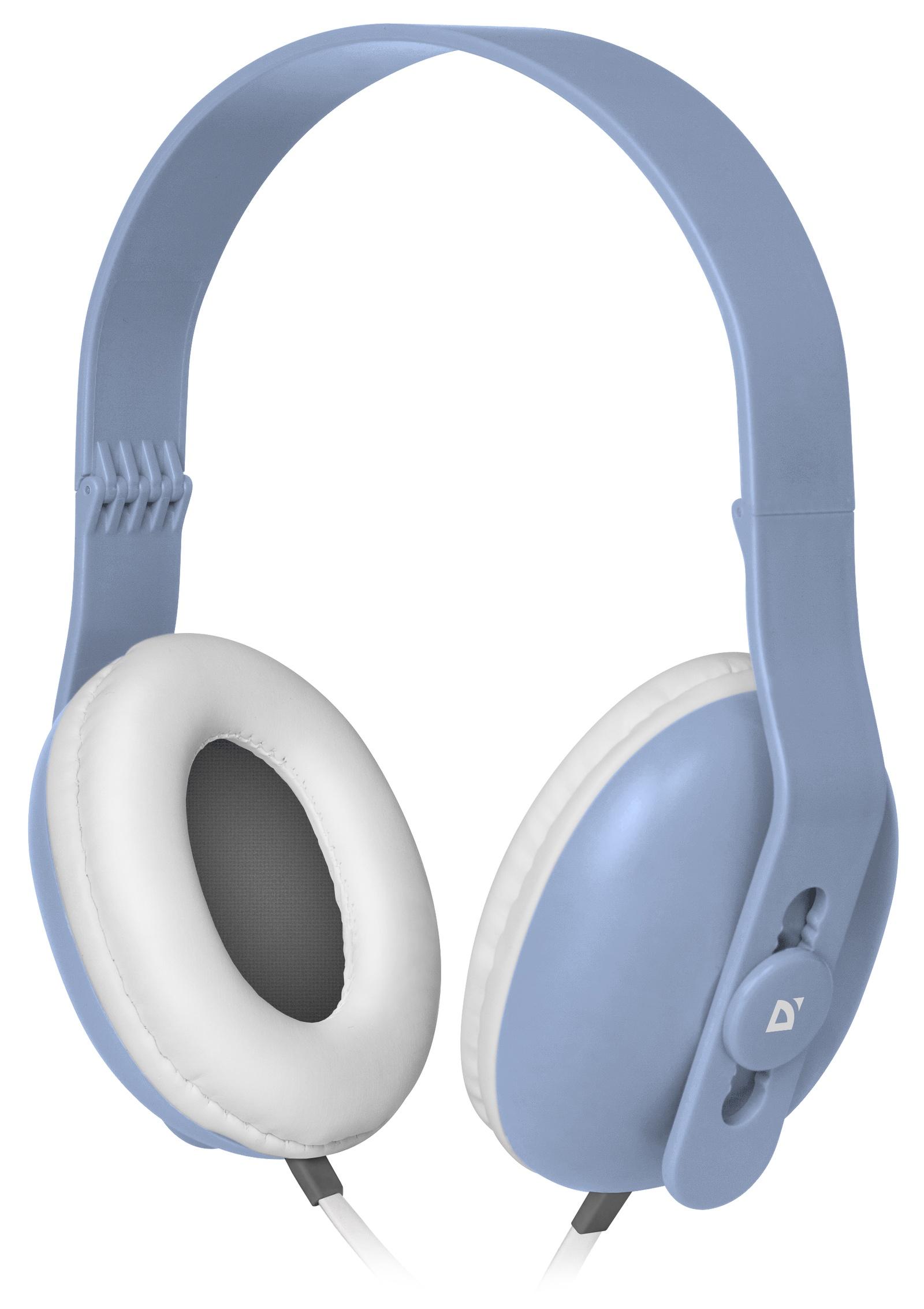 все цены на Компьютерная гарнитура Defender Fancy 440, голубой онлайн