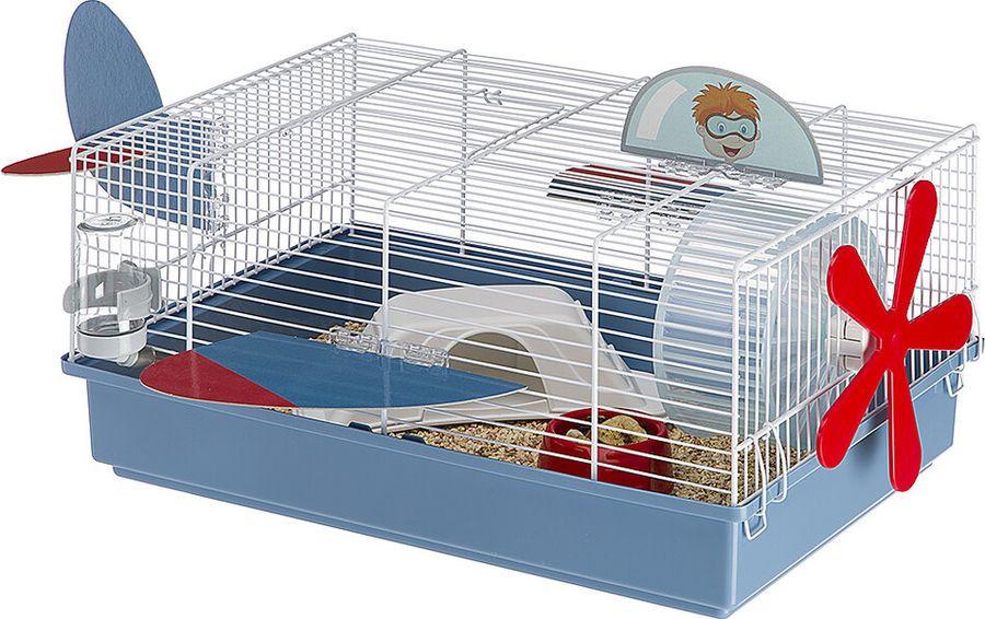 Клетка для хомяков Ferplast Criceti 9 Plane, белый клетка для грызунов ferplast criceti 9 princess для хомяков 46х30х23см
