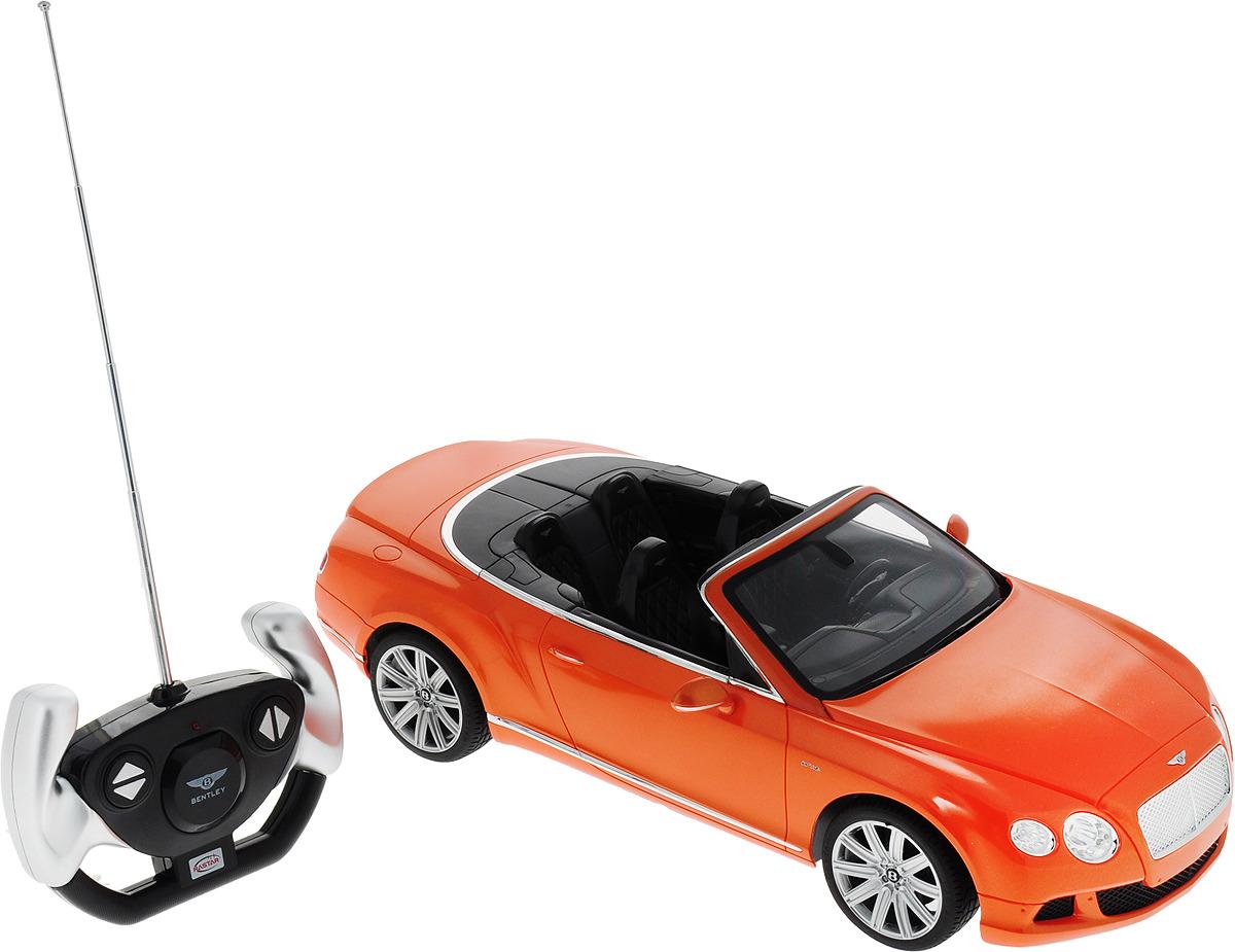Rastar Радиоуправляемая модель Bentley Continental GT Speed Convertible цвет оранжевый rastar радиоуправляемая модель bentley continental gt3