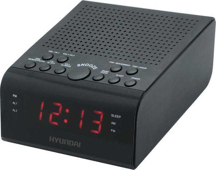 Радиобудильник Hyundai, H-RCL180, черный радиобудильник philips aj3123 12