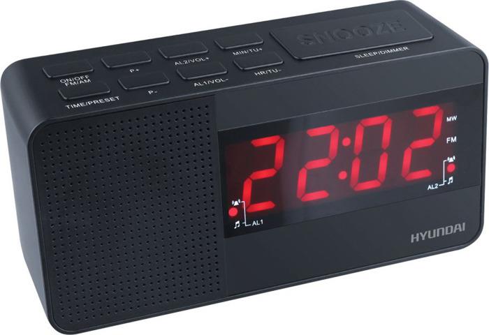 лучшая цена Радиобудильник Hyundai, H-RCL200, черный