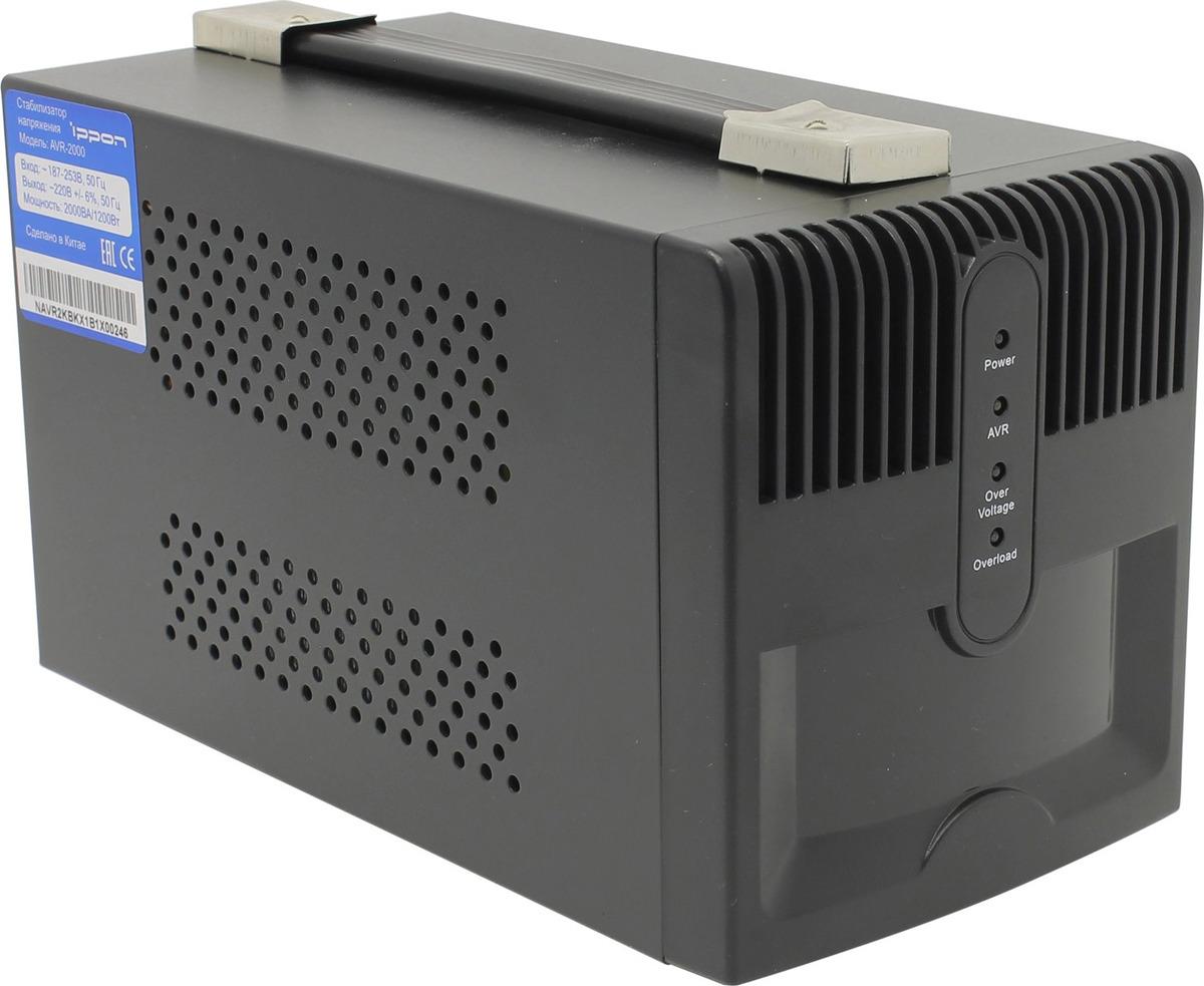 Фото - Стабилизатор напряжения Ippon AVR-2000 1200 Вт 2000ВА видео
