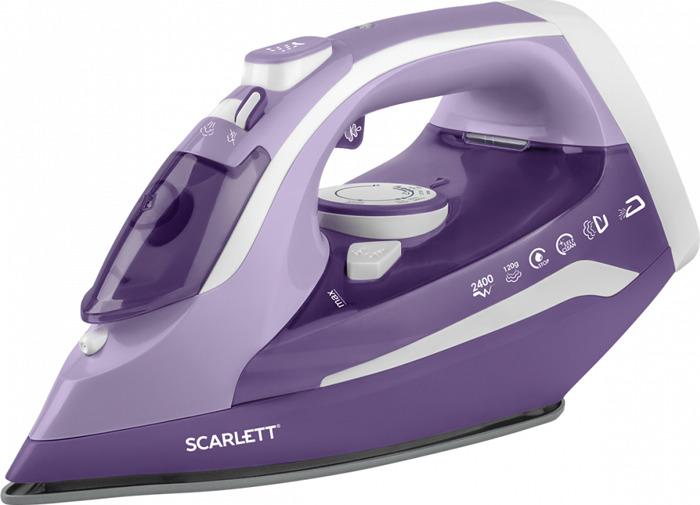 Утюг Scarlett SC-SI30K38, фиолетовый утюг bosch tda 2315 1800 вт подача пара 20 г мин пар удар 40 г мин зеленый