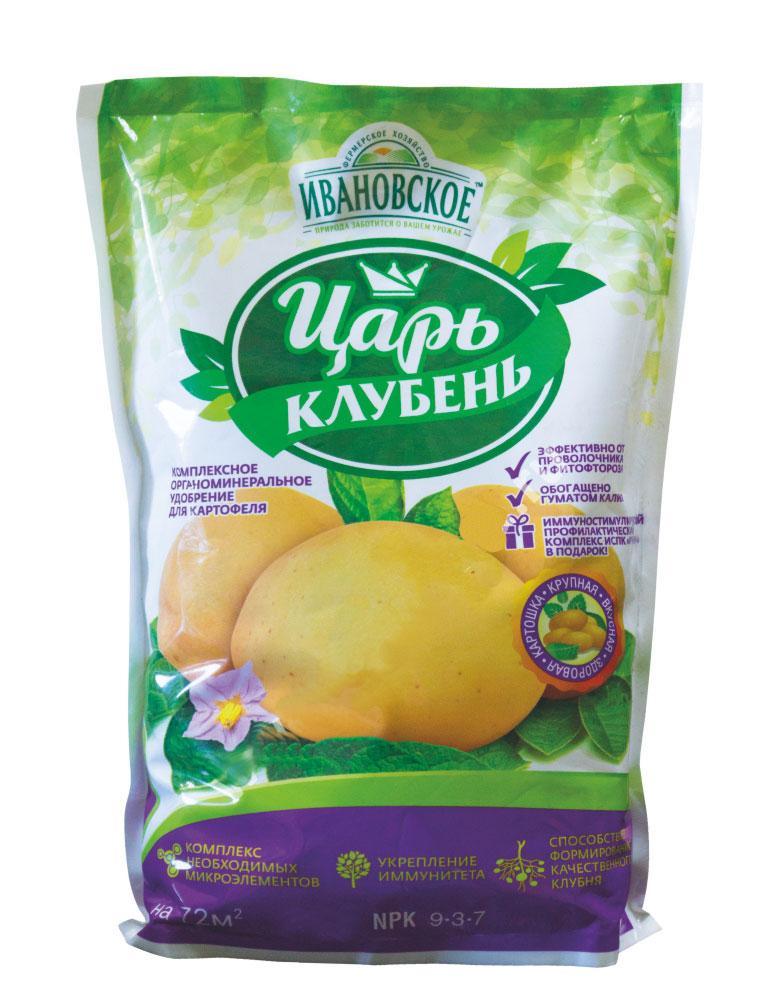 Удобрение Фермерское хозяйство Ивановское Царь-Клубень органоминеральное для картофеля 1кг, серый удобрение фермерское хозяйство ивановское для рассады 50г коричневый