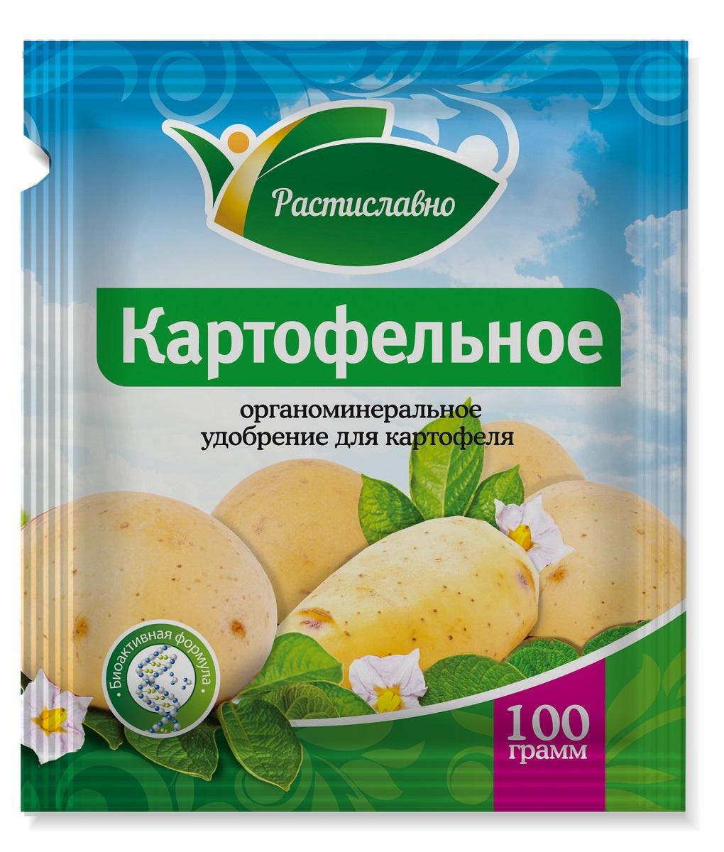 Удобрение Растиславно Органоминеральное Картофель 100г, серый цена