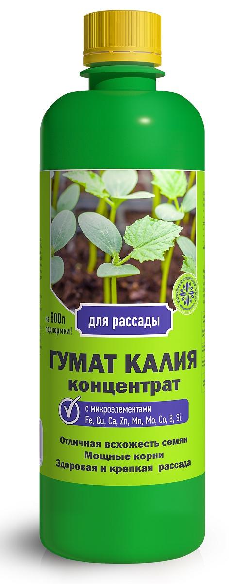 Удобрение Фермерское хозяйство Ивановское Гумат калия для рассады 0,5л, коричневый удобрение фермерское хозяйство ивановское биогумус универсальный суперконцентрат 500 мл