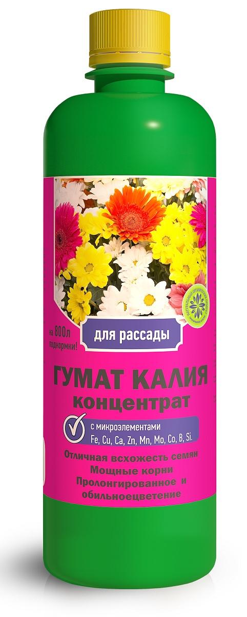 Удобрение Фермерское хозяйство Ивановское Гумат калия цветочный 0,5л, коричневый удобрение фермерское хозяйство ивановское для рассады 50г коричневый