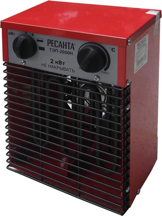 Тепловая пушка электрическая Ресанта ТЭП-2000Н, красный, 2000 Вт Ресанта