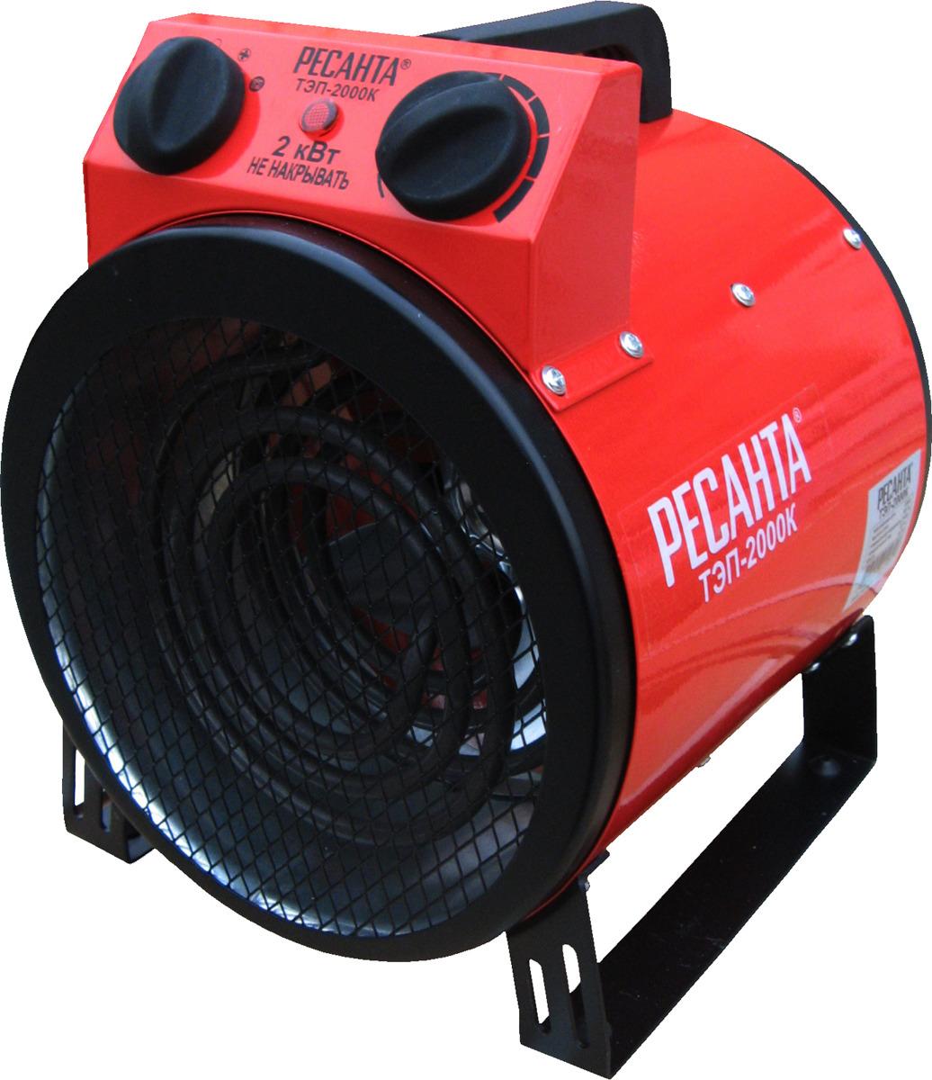 Тепловая пушка электрическая Ресанта ТЭП-2000К, красный, 2000 Вт Ресанта