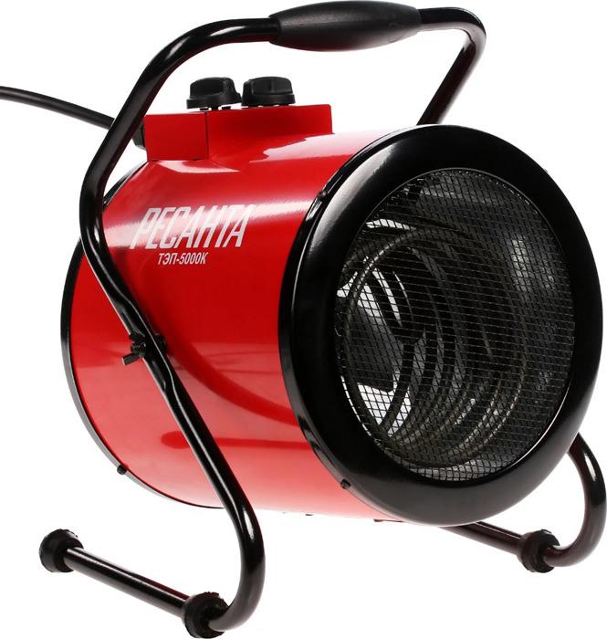 Тепловая пушка электрическая Ресанта ТЭП-5000К, красный, 5000 Вт тепловая пушка электрическая ресанта тэп 5000