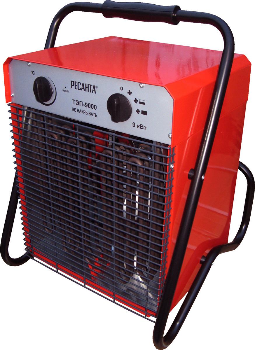 Тепловая пушка электрическая Ресанта ТЭП-9000, красный, 9000 Вт