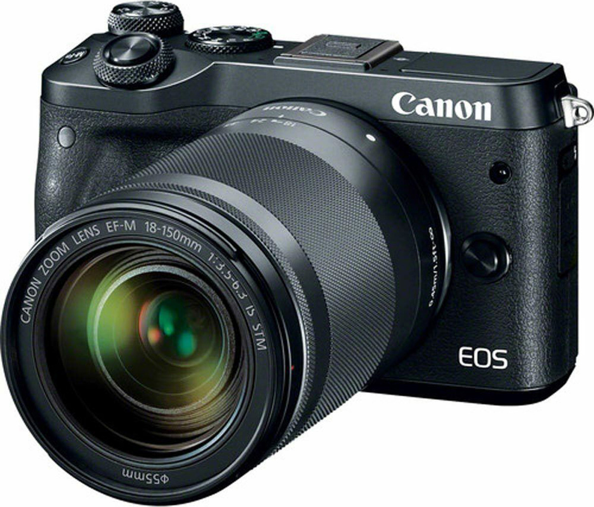 Фотоаппарат Canon EOS M6 kit 18-150 IS STM, черный фотоаппарат со сменной оптикой canon eos m6 kit ef m 18 150mm f 3 5 6 3 is stm