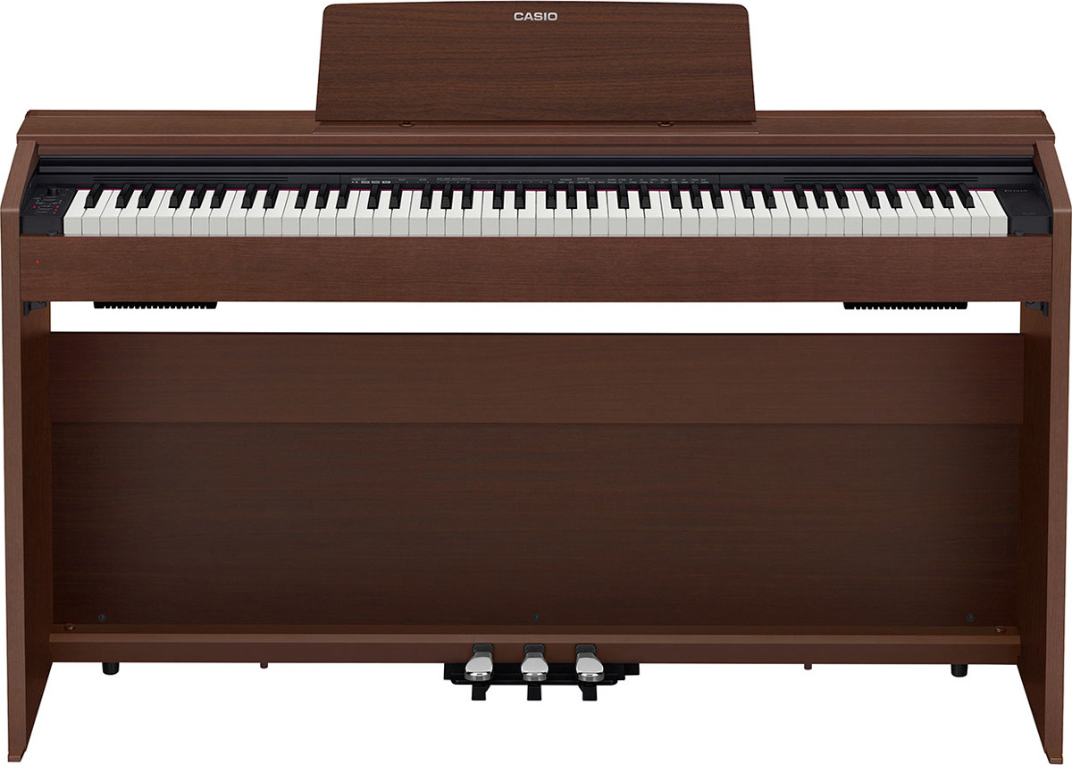 Цифровое фортепиано Casio Privia, коричневый, PX-870BN
