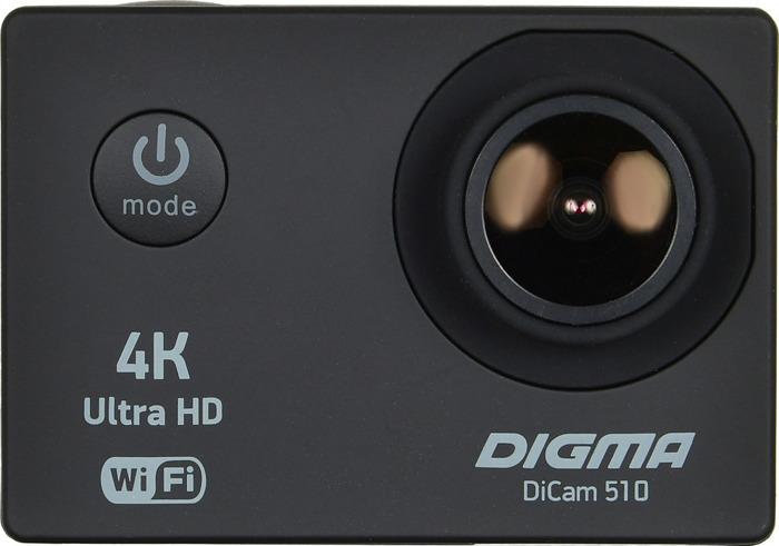 цена на Экшн-камера Digma DiCam 510, черный