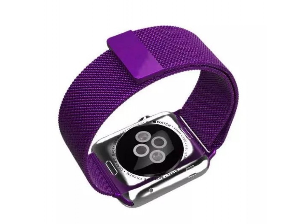 Ремешок для смарт-часов Bikson для Apple Watch 38/40mm, фиолетовый чехол для смарт часов interstep спортивный для apple watch 40mm серебристый