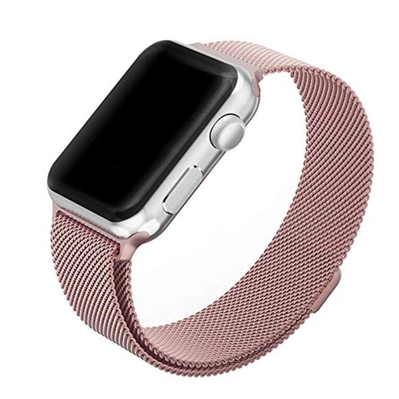 Ремешок для смарт-часов Bikson для Apple Watch 38/40mm, розовый чехол для смарт часов interstep спортивный для apple watch 40mm серебристый