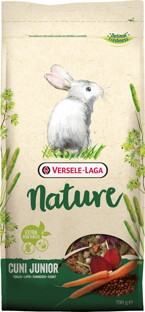 Корм сухой Versele-Laga Nature Cuni Junior, для крольчат, 700 г